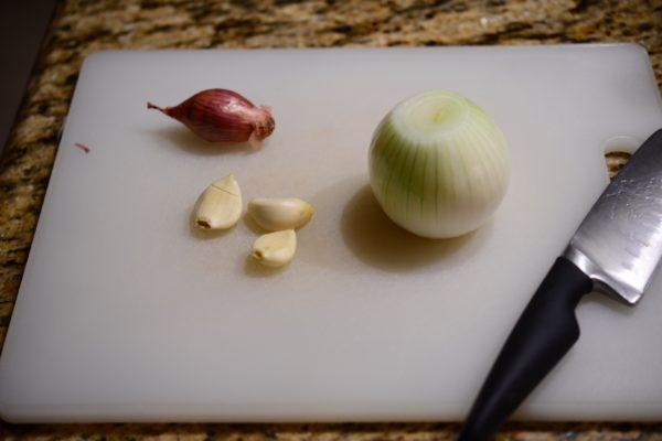 onion garlic shallots